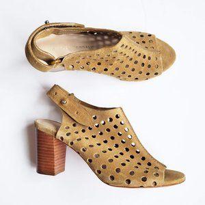 Loeffler Randall Alix Perforated Suede Heel Tan 6